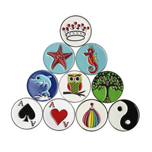 Assortment of Designs Unique Metal Golf Ball Markers- Beautiful Golf Accessories