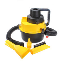 KROAK 12V 90W Car Boat Truck Van Portable 12V Wet Dry Vacuum Cleaner Hoover Air Pump Yellow(China)