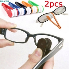 2pc Glasses Sunglasses Eyeglass Spectacles Cleaner Cleaning Brush Wiper Wipe Kit Levert Dropship 23mar13(China)