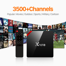 Android6.0 Smart IPTV Set Top Box XNANO Amlogic S905X Quad Core 1G 8G UK Russia USA Brazil Germany IPTV Subscription HD Receiver