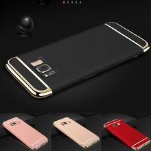 For Samsung S8 case Samsung galaxy S8 Plus case cover Luxury Gold Plating 3 in 1 black capas galaxy s8 plus + back cover 6.2""