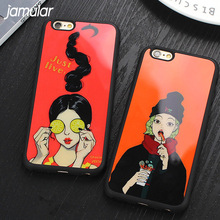 Buy JAMULAR Girl Case iPhone 6 6s 7 Plus Soft Silicone Mirror Cover iPhone 8 7 Plus 6 6s Back Covers Protective Fundas for $1.79 in AliExpress store