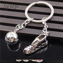 SUTEYI Creative Soccer Keychain Sports Shoes Key Chain World Cup Soccer Team Gift Car Key Pendant, Football fans Gifts