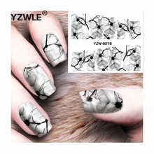 YZWLE 1 Sheet DIY Decals Nails Art Water Transfer Printing Stickers Accessories For Manicure Salon YZW-8078(China)