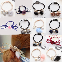 Fashion 1PC Hot Sale Diverse Hair Band Headband 3D Flowers Ponytail Holder Scrunchie Elastic elegant comfort freshness 18 Styles
