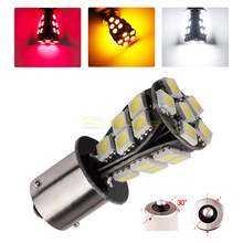 2pcs 1156 21 SMD BAU15S led car bulbs canbus No Error py21w Lamp External Lights Car Light Source 12V Red White Yellow
