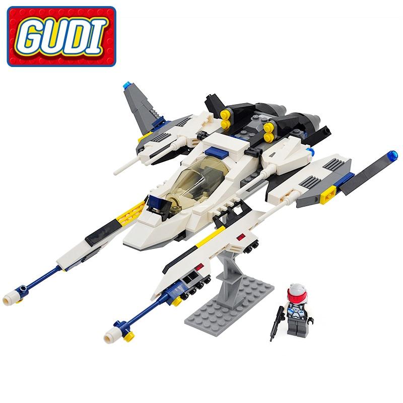 GUDI Star Fighter Blocks 281pcs Bricks Educational Building Block Sets Model Compatible with all brand Birthday Gift Toys