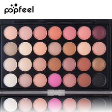 Popfeel Matte Eyeshadow 28 Colors Pallete Makeup Palette To Face Pallet Make Up Palette Glitter Natural Eye Shadow Pallete