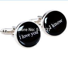 I love you I know cufflinks quote - wedding cuff links, anniversary or just becuase - star wars quote Cuff Links(China)