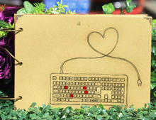 2017 New Brand Keyboard Love DIY Photo Album Creative Gift Scrapbooking Baby Weeding Travel Scrapbook Craft Handmade 10 Inch(China)