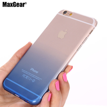 New Gradient Case for iPhone 5 5S SE / 6 6s 4.7 / 6 Plus 6s Plus 5.5 / 7 7plus TPU Case Soft Dual Silicon Cover Fundas TPU Gel