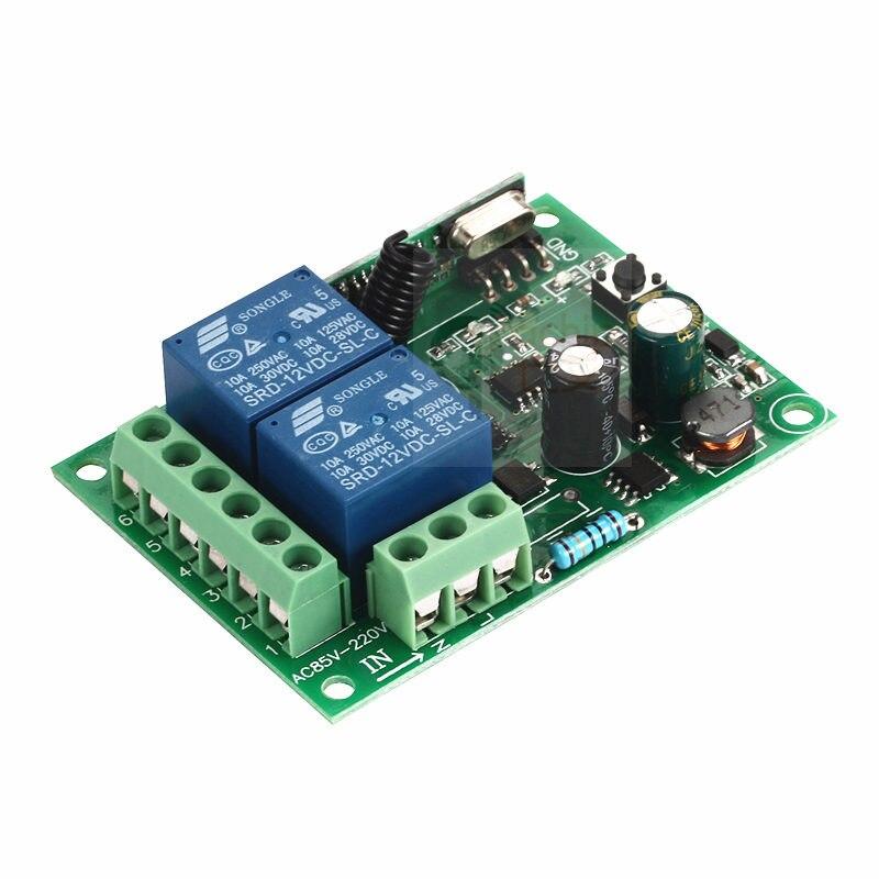 110V 220V 2 Channel Wireless Remote Control Switch Receiver Module