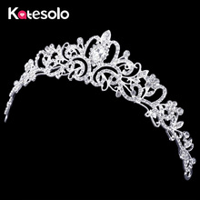 2016 Luxury Wedding Bridal Crystal Tiara Crowns Princess Queen Pageant Prom Rhinestone Tiara Headband Wedding hair accessories(China)