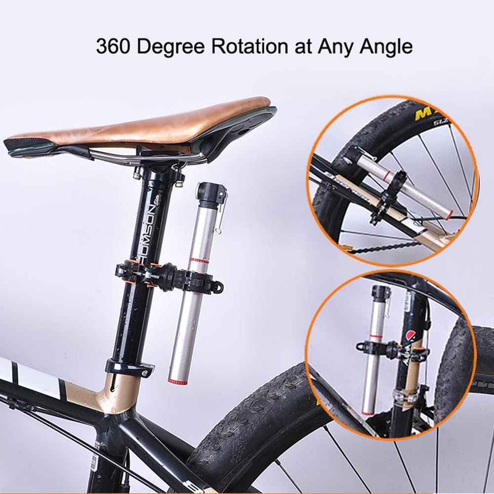1pc Bicycle Cycle Water Bottle Cage Holder Adapter Clamp 360 Degree Rotatable EP