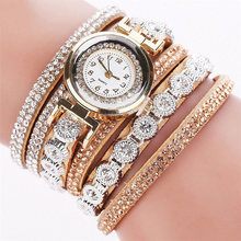 Unique Women Watch Luxury Diamond Bracelet Watch Ladies Quartz Casual Small Dial Wristwatch Ornaments Gift For Lady Mother LL@17