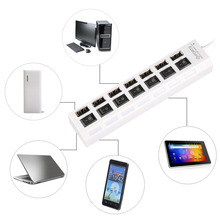 7 Port USB 2.0 HUB Sharing Switch Adapter For PC Desktop Laptop High Speed