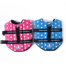 Pet Puppy Dogs Jacket Dog Swimming Vest Saver Pet Dog Swimming Preserver XS-L