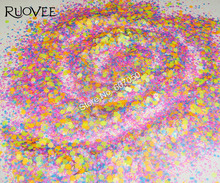 30g Matte Neon  Hexagon and Strip Spangles Shapes glitter Nail art Solvent Resistant paillette for polish make up