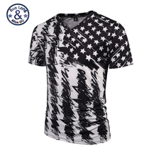 2017 T-Shirts Top Tees Men Women 3D Printed Skull Red Roses Stars Pattern V- Neck Fitness Hombre Camisa Masculina Brand Clothing