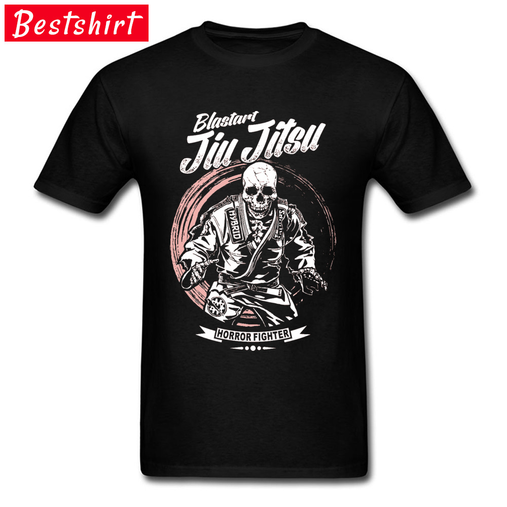 Jiu-jitsu-Horror-Fighter Street Tops Shirt Short Sleeve for Men Cotton Fabric Round Collar T Shirt Normal Sweatshirts 2018 New Jiu-jitsu-Horror-Fighter black