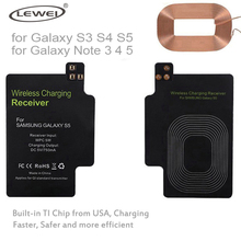 LEWEI Imported IC Qi Wireless Charger Receiver Qi Charging Adaptor for Samsung Galaxy S3 S4 S5 Note 3 4 5 Typc C Micro USB