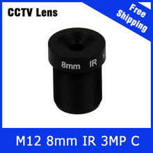 3Megapixel Fixed M12 CCTV Lens 8mm For 720P/960P/1080P/3MP IP Camera and AHD\CVI\TVI Camera IR Function Free Shipping
