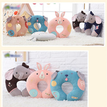 30cm 2styles Baby toys plush doll Coke dog U shape pillow car neck pillow sleep cute cartoon Stuffed Nap pillow Education childs