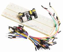 MB102 Breadboard Power Module+MB-102 830 Points Solderless Prototype Bread Board kit +65 Flexible Jumper Wires Free Shipping