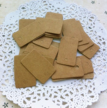 Free shipping garment tags paper eco friendly recycled bags garment shoes blank paper card