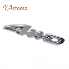 New Car Tail Sticker 3D Chrome 4WD Logo Displacement Emblem Badge All Wheel Drive Car Styling Decal for Ford Toyota VW BMW Honda