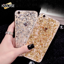 KISSCASE Bling Case For iPhone 5S 6 6S For iPhone 7 Plus Soft TPU Phone Case For iPhone 6 6s Plus SE Transparent Cover For Girl