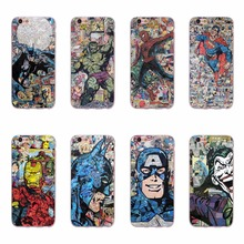 Cool Superman Hulk Batman Ironman Spiderman Design TPU Soft Silicone Phone Cases For iPhone 6 6S 5 5S SE 7 Plus Fundas Covers