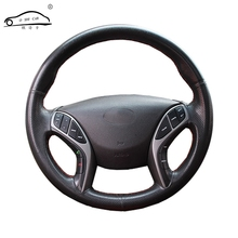 Artificial Leather car steering wheel braid for Hyundai Avante i30 2012-2016/Custom made Steering cover(China)