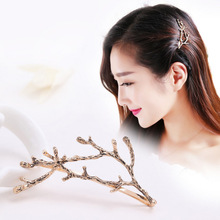 South Korea Jewelry Sianmei Alloy Side Clamping Clip Side Branches Antlers Jewelry Fashion Personality Princess Jewelry Hairpin(China)