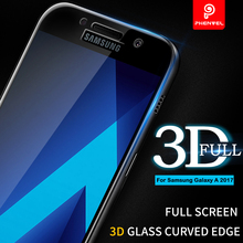 3D Film Glass Samsung Galaxy A5 2017 Phenvel Full Cover Screen protector A3 A7 Tempered Arc-edge - Foxskytech Store store