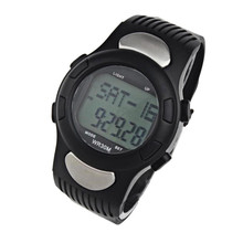 Newly Fashion Waterproof Fitness 3D Pedometer Calories Counter Sport Watch Pulse Heart Rate Monitor 2016 Hot Selling