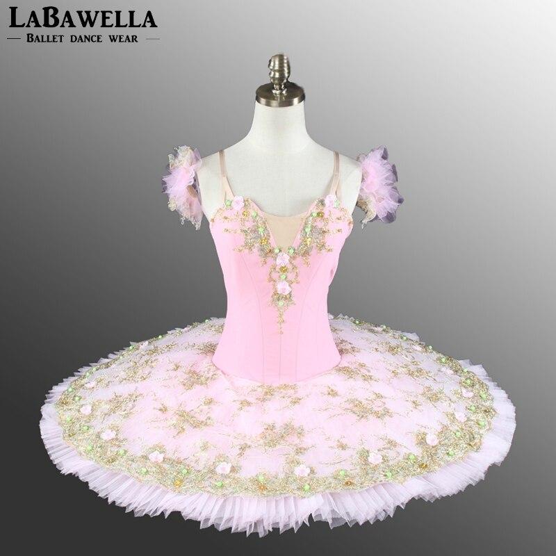 Pink Sugar Plum Fairy Professional Stage Custom madeTutu Women Girls Pancake Tutu Performance Costume BT8991A