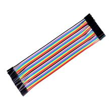 40pcs 20cm 2.54mm 1p-1p Pin Female to Female Color Breadboard Cable Jump Wire Jumper For Arduino