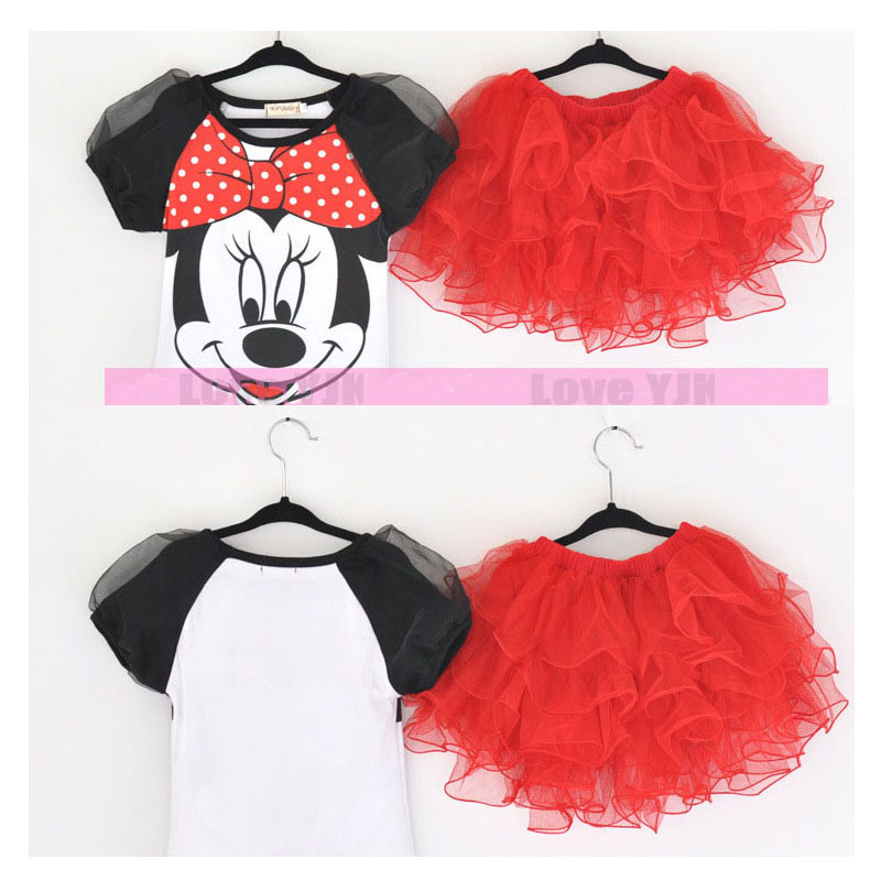 New Hello Kitty Girls Mackey Mouse Girls Dress Party Kids Clothing Baby Children Baby Fashion Summer Girl Lovely A Set Dresses<br><br>Aliexpress