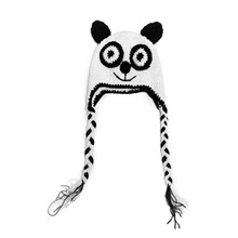 Baby cartoon kint Beanies Lovely infant Panda pattern keep warm Hat Handmade Crochet cap High quality materials