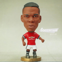 "Soccer Player Star 6# POGBA (MU-2018) 2.5"" Action Dolls Figurine FreeShipping(China)"