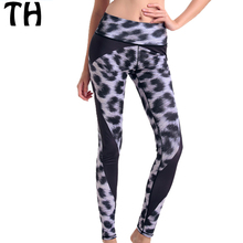 2016 Stretch Fitness leopard Leggings Women Workout Compression Tights Leggins Mujer #160664