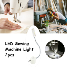Magnetic Mounting Base 1W 12 LED Sewing Machine Light Working Gooseneck Lamp Industrial Sewing Machine or Home Working Lighting(China)