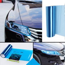 Car Electronics Accessories New Hot SaleWaterproof Stretchable Car Headlight Fog Lamp Protect Film Vinyl Wrap Overlays Sheet(China)