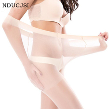 Buy NDUCJSI High Quality Brand Tights Summer Super Elastic Solid Colors Core Yarn Nylon Pantyhose Sexy Silk Thin Ladies Stockings