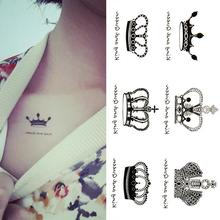New Arrival Water Transfer Crown Waterproof Temporary Tattoo Sticker Sexy Product