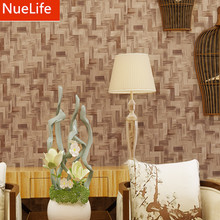 0.53x9.5m 3d retro style imitation bamboo pattern wallpaper wedding room shop bedroom living room TV background wallpaper(China)