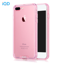 IQD Bumper Case For iPhone 8 7 plus Cover TPU Anti-Scratch Rigid Slim Protective Back Durable cellphone For iphone 8 plus Cases(China)
