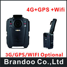 Free shipping 4G police man camera, 1080p body worn camera, support 4G+GPS+WIFI, used for police man model BC001 from Brandoo