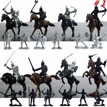 28pcs/set Knights Warrior Horses Medieval Toy Soldiers Figures Playset Mini Model Toys Gift Decor For Children Adult(China)